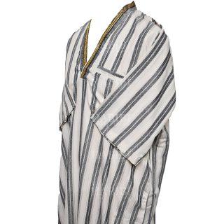 Vsmlvnk 002 V Neck Thobe Short Sleeve Jubba0509 231025