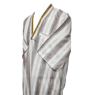 Vsmlvnk 004 V Neck Thobe Short Sleeve Jubba0509 231523