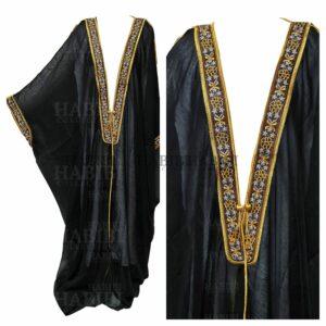Wmnbsht 002 Women's 3 Quarter Sleeve Arabian Bisht Black Cloak Arab Dress Thobe Islam Robe Eid 05 28t165933.123