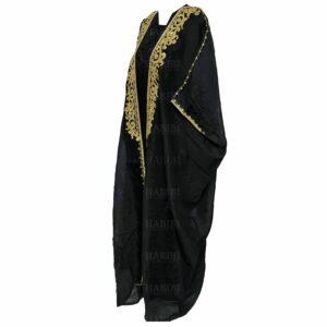 Wmnbsht 003 Women's 3 Quarter Sleeve Arabian Bisht Black Cloak Arab Dress Thobe Islam Robe Eid 0528 172817