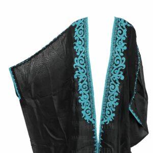 Wmnbsht 007 Women's 3 Quarter Sleeve Arabian Bisht Cloak Arab Dress Thobe Islam Robe Eid 0528 182135
