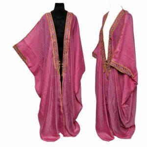 Wmnbsht 015 Women's 3 Quarter Sleeve Arabian Bisht Cloak Arab Dress Thobe Islam Robe Eid 05 30t004353.060