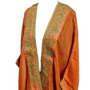 Wmnbsht 021 Women's 3 Quarter Sleeve Arabian Bisht Cloak Arab Dress Thobe Islam Robe Eid 0528 202711