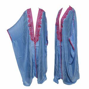 Wmnbsht 028 Women's 3 Quarter Sleeve Arabian Bisht Cloak Arab Dress Thobe Islam Robe Eid 05 29t202320.419