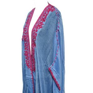 Wmnbsht 028 Women's 3 Quarter Sleeve Arabian Bisht Cloak Arab Dress Thobe Islam Robe Eid 0528 200803