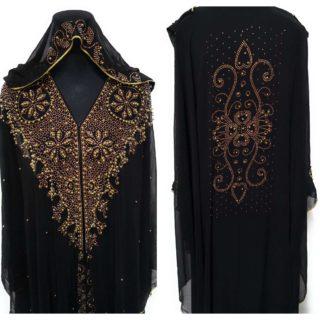 Womens Black Abaya Habibi Collections (1)