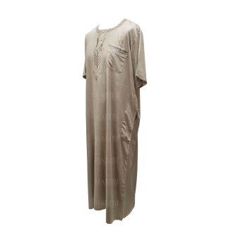 Ymkdes 001 Beige Cotton Thobe Jubba Men's Dishdash 0502 194208