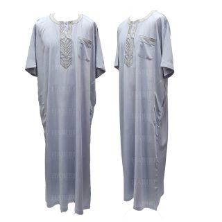 Ymkdes 002 Light Grey Cotton Thobe Jubba Men's Dishdash 05 08t055654.246