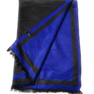 Black & Blue 2-Tone 100% Cashmere Scarf Unisex