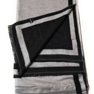Black & Grey 2-Tone 100% Cashmere Scarf Unisex