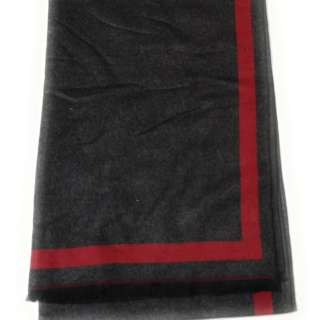 Black & Red 2-Tone 100% Cashmere Scarf Unisex