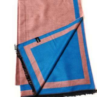 Pink & Blue 2-Tone 100% Cashmere Scarf Unisex