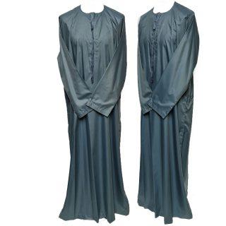 Size 52 Emaratee Men's Grey Long Sleeve Thobe