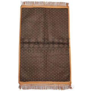 Islamic Gold/Yellow Kaaba Leaf Prayer Mat Padded Rug Janamaz Musalla Large Non-Slip 1000+grm