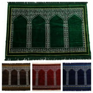 High QUALITY ISLAMIC PRAYER MAT. Musalla EXTRA LARGE SIZE FOR 4 PEOPLE 4 Colours
